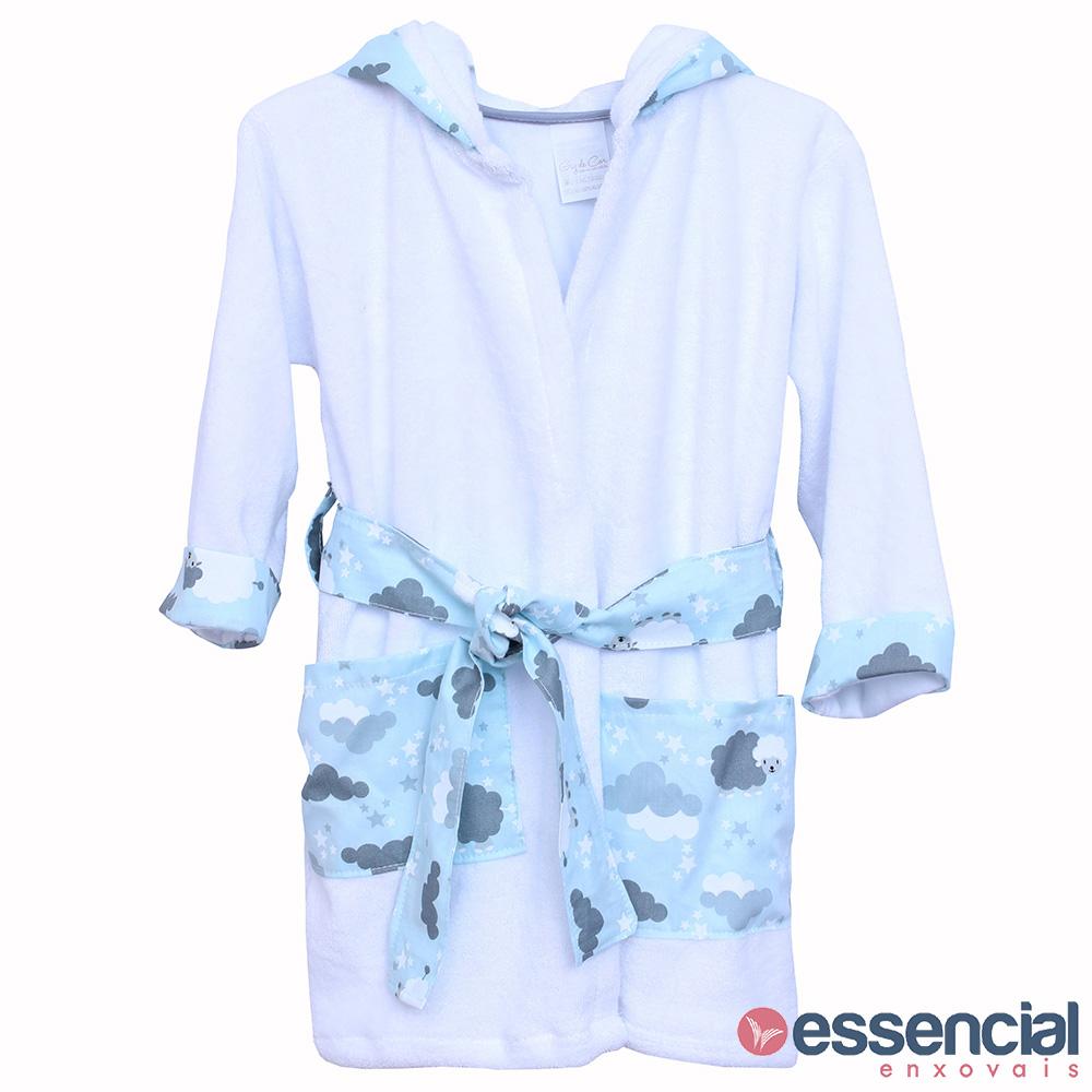 Roupão toalha de banho ovelha azul